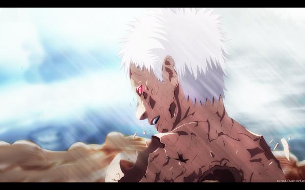 Anime Naruto Obito Uchiha Sharingan White Hair HD Wallpaper   Background Image