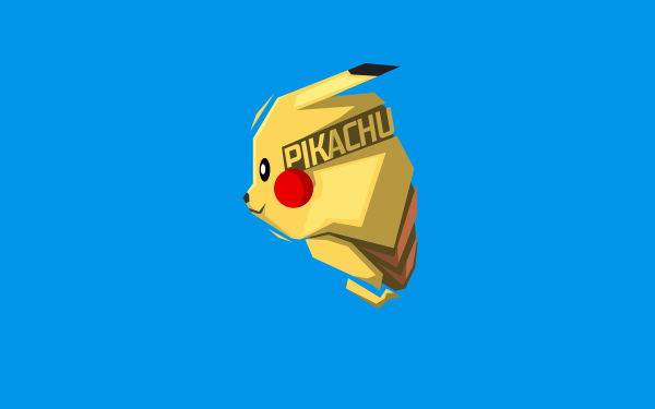 Anime Pokémon Pikachu Minimalist HD Wallpaper   Background Image