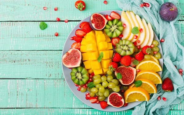 Food Fruit Fruits Still Life Kiwi Fig Grapes Strawberry HD Wallpaper   Background Image