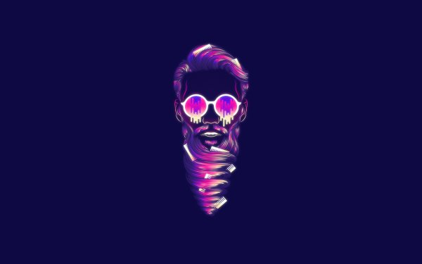 Artistic Retro Wave Face HD Wallpaper   Background Image