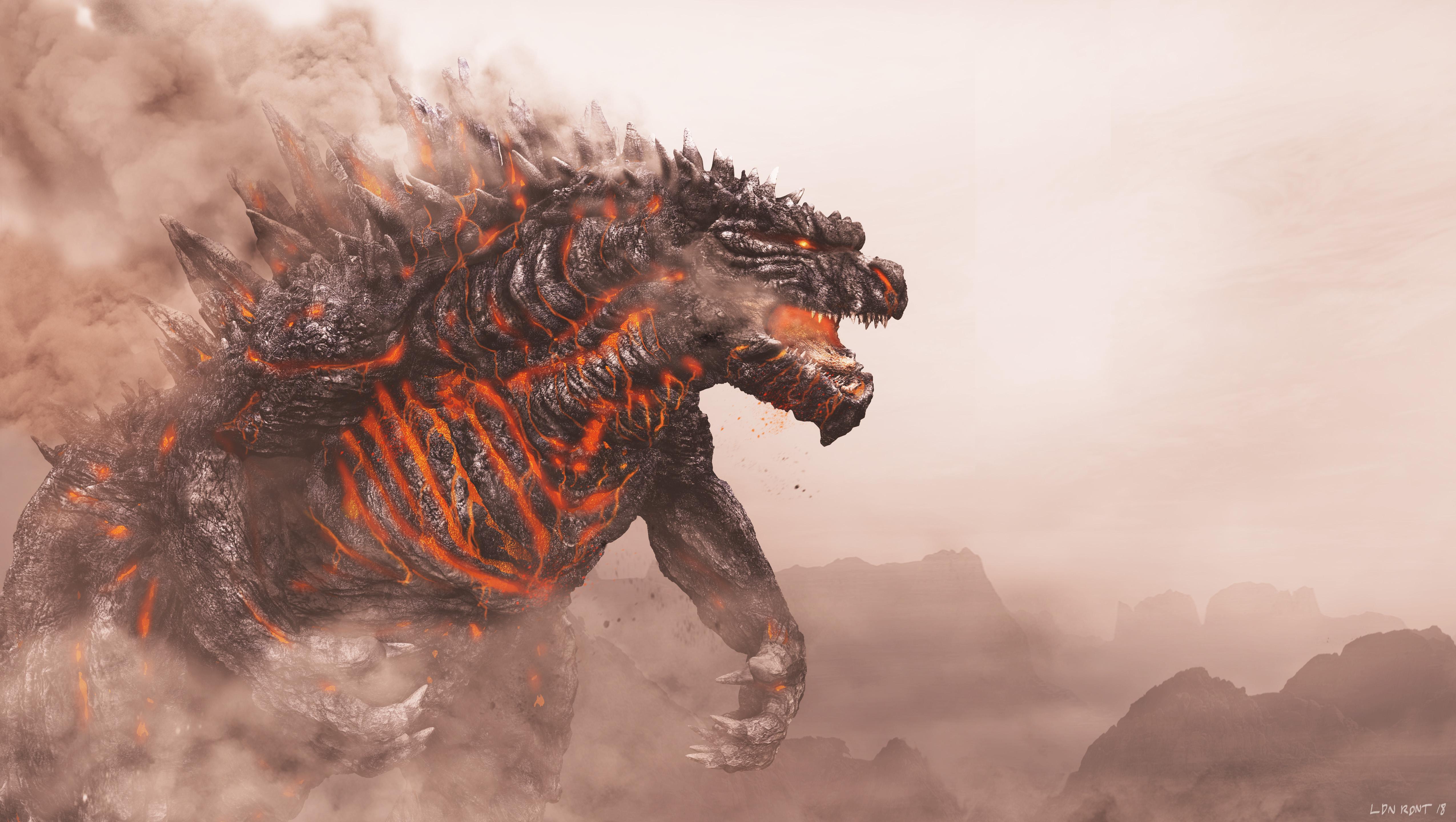 Godzilla 4k Ultra Hd Wallpaper Background Image 5100x2880 Id