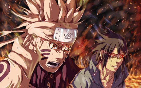 Anime Naruto Naruto Uzumaki Sasuke Uchiha Sharingan HD Wallpaper | Background Image