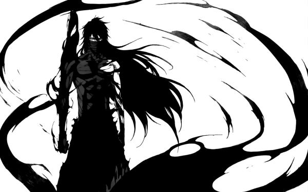 Anime Bleach Ichigo Kurosaki Bankai Long Hair Black Hair HD Wallpaper | Background Image