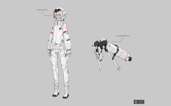 Anime Original Space Suit HD Wallpaper   Background Image