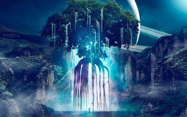Fantaisie Magique Arbre Fond d'écran HD | Arrière-Plan