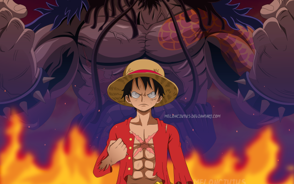 Anime One Piece Monkey D. Luffy Kaido HD Wallpaper | Background Image