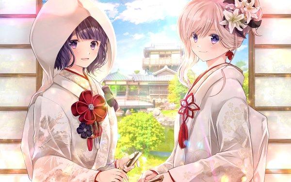 Anime Fate/Grand Order Fate Series Katsushika Hokusai Miyamoto Musashi HD Wallpaper | Background Image