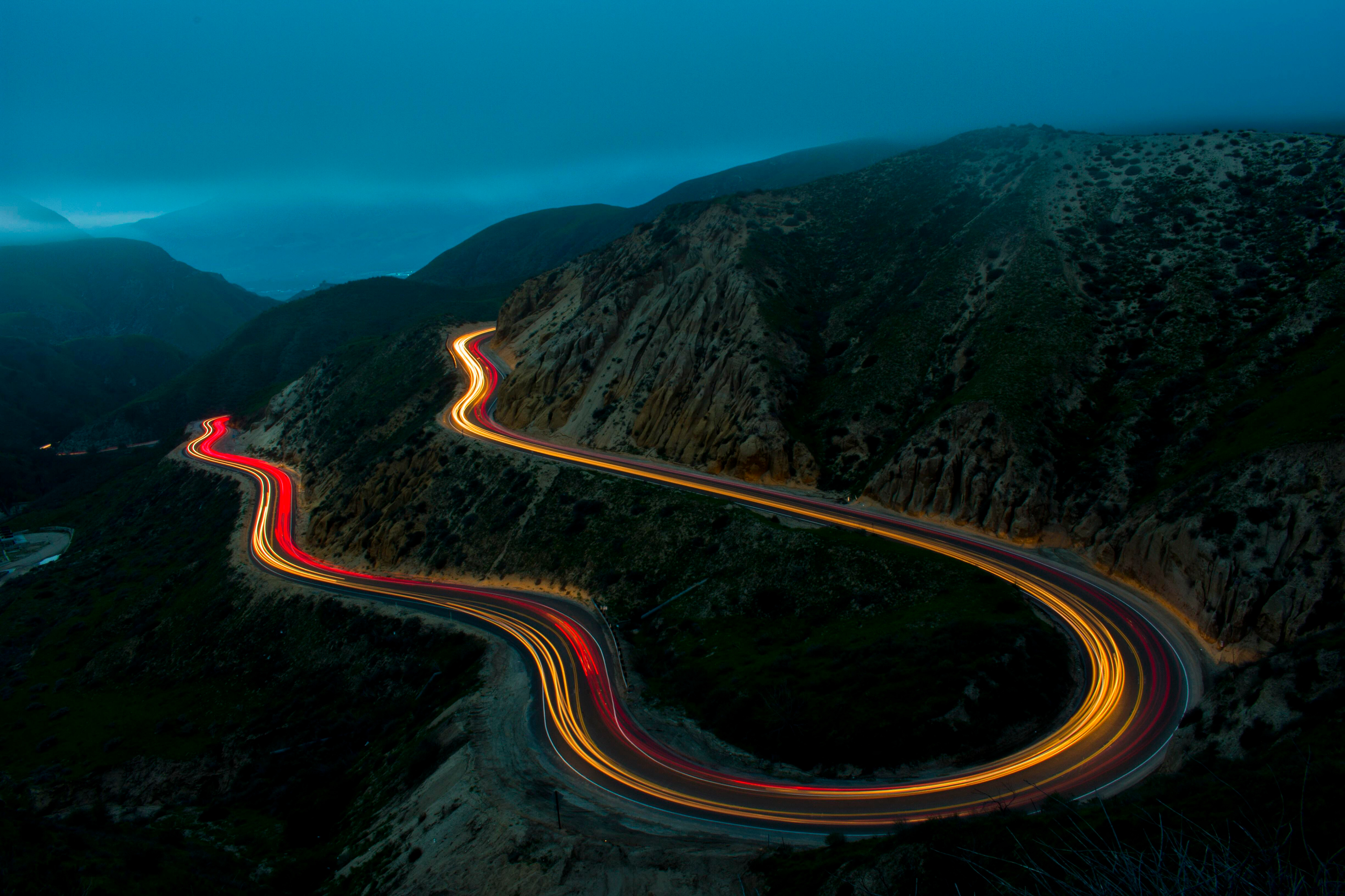 Mountain Road At Night Hd Wallpaper Background Image 3000x2000