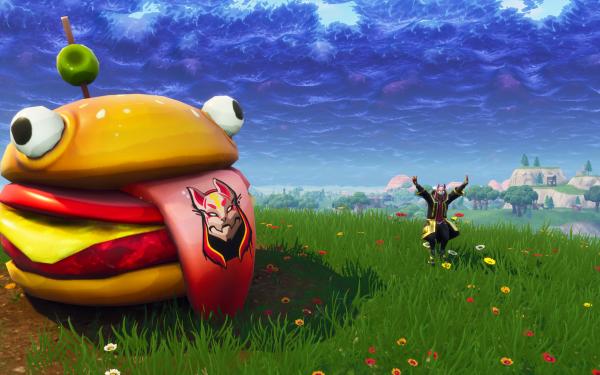 Video Game Fortnite Hamburger HD Wallpaper | Background Image