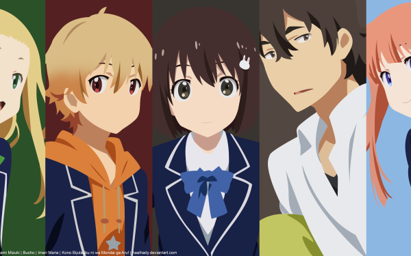 Anime This Art Club Has a Problem! Subaru Uchimaki Collette Mizuki Usami Maria Imari President HD Wallpaper | Background Image