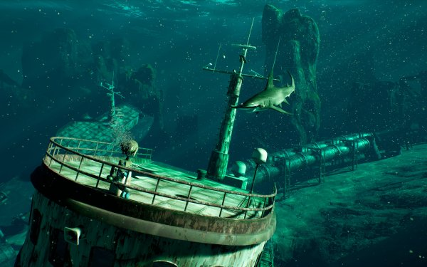 Video Game Last Tide Shark Hammerhead Shark HD Wallpaper | Background Image