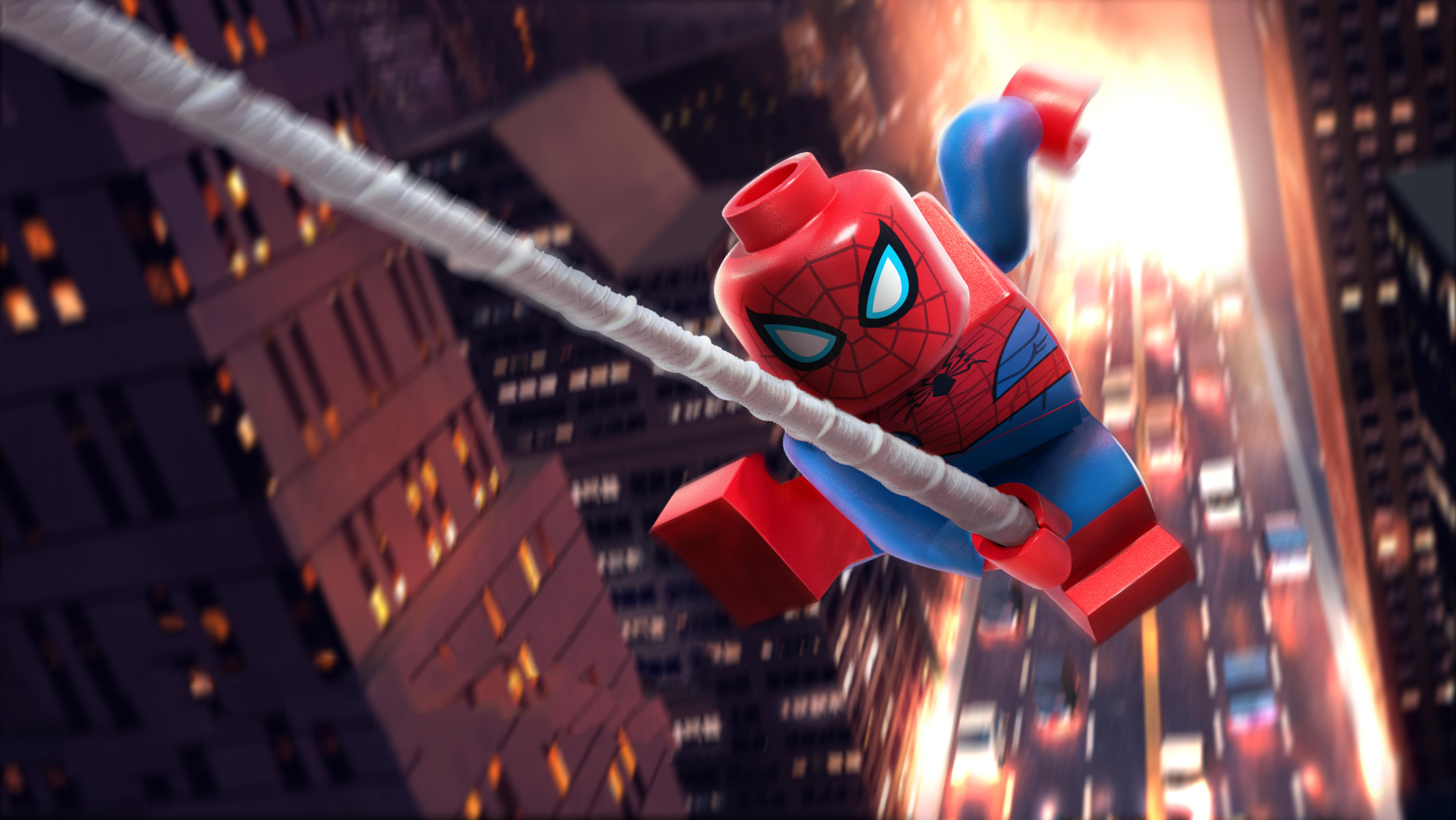Lego Spider Man Vexed By Venom 5k Retina Ultra Hd Wallpaper