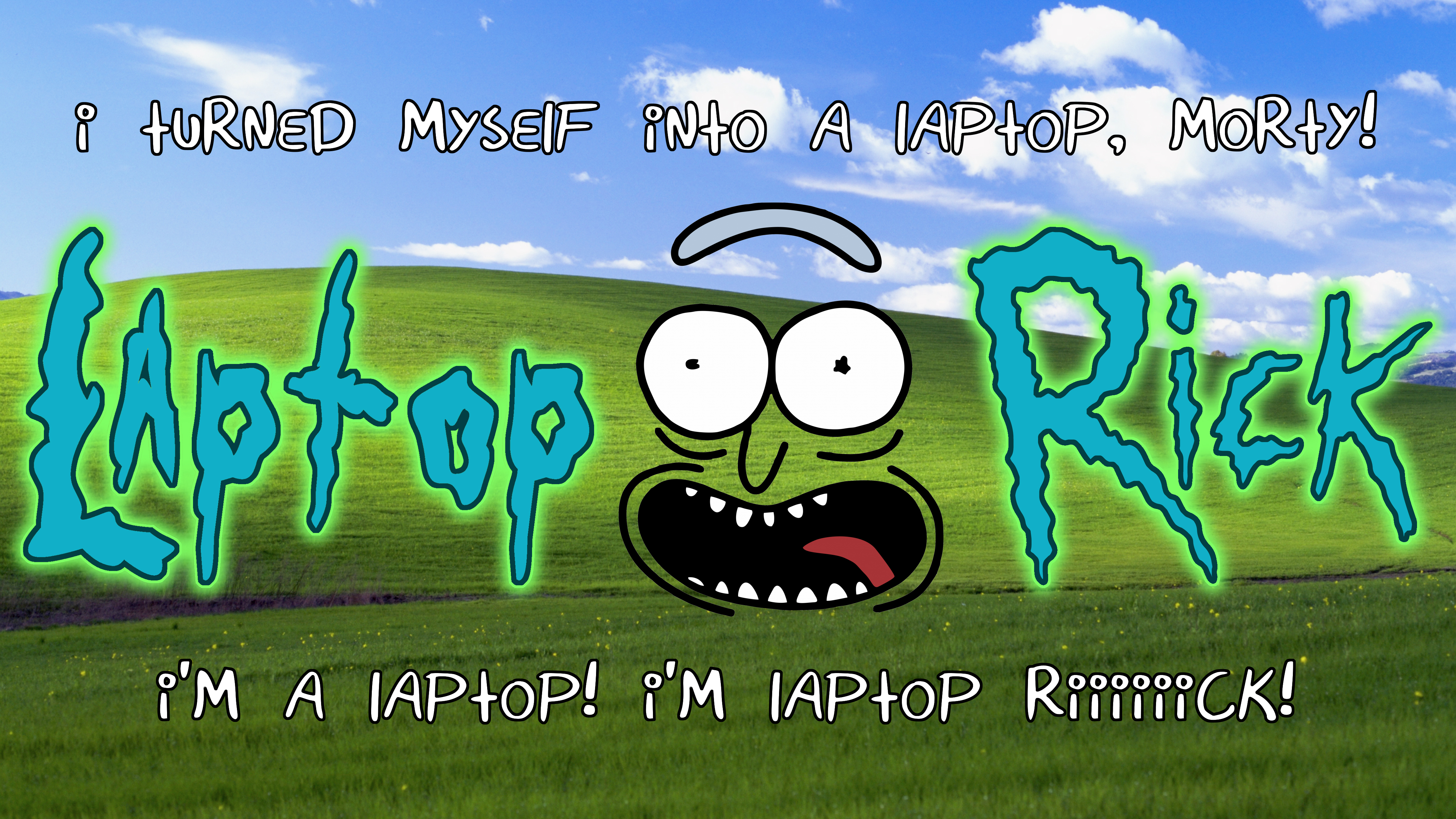 Laptop Rick With Logo Text 4k Ultra Hd Wallpaper Background Image 4480x2520 Id 960523 Wallpaper Abyss