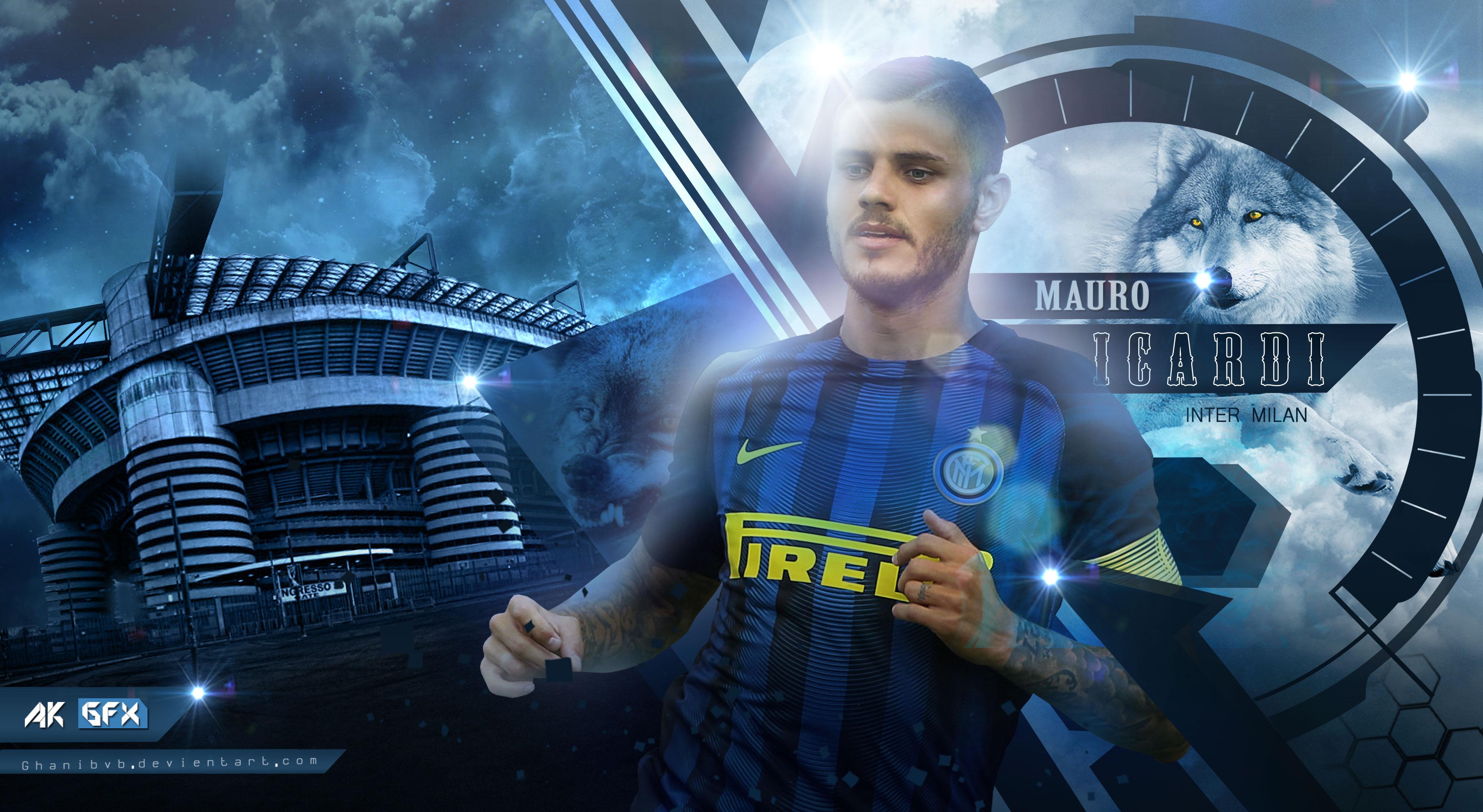 Mauro Icardi - Inter 4k Ultra HD Wallpaper