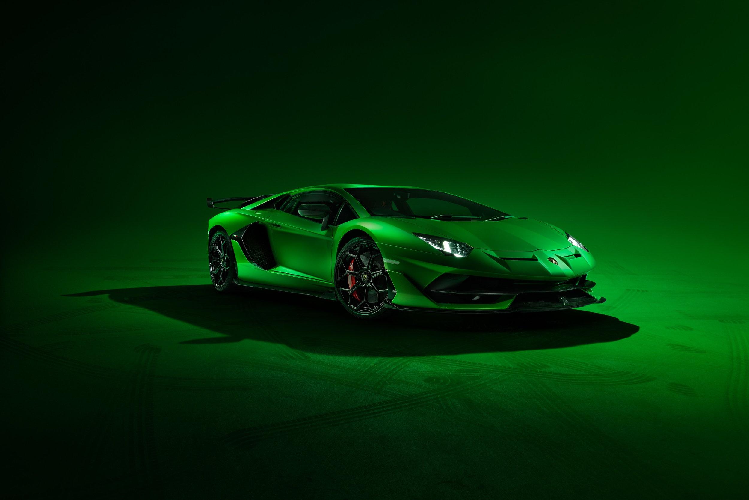 Green Lamborghini Aventador Hd обои фон 2500x1668 Id