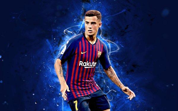 Sports Philippe Coutinho Soccer Player Brazilian FC Barcelona HD Wallpaper | Background Image