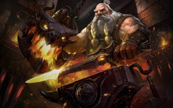 Fantasy Dwarf Beard Sword HD Wallpaper | Background Image
