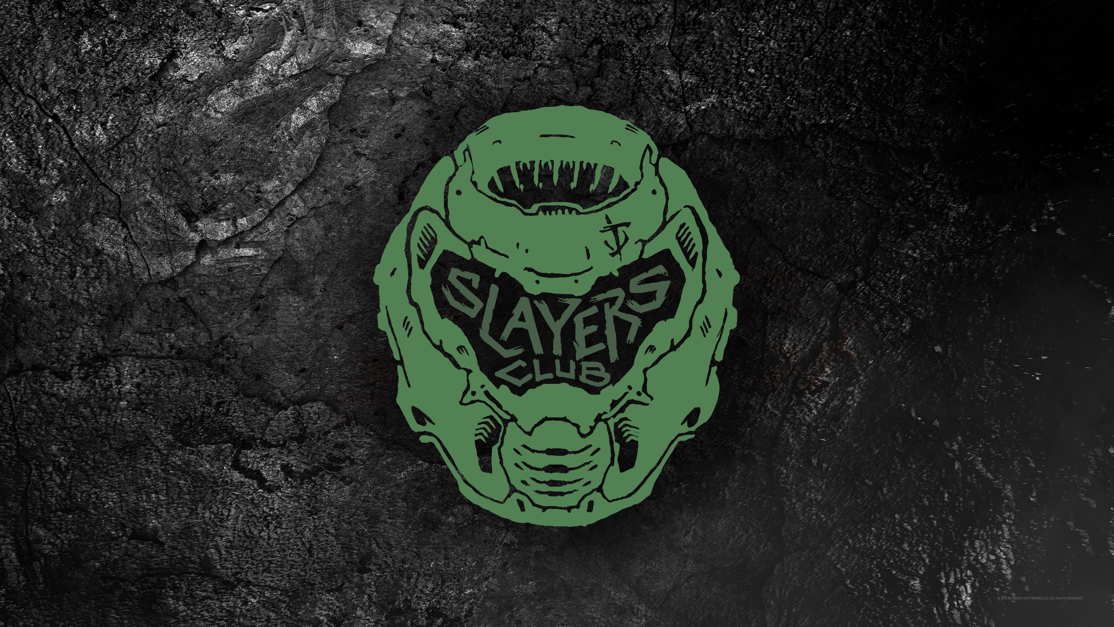 Doom Slayers Club 4k Ultra Hd Wallpaper Background Image