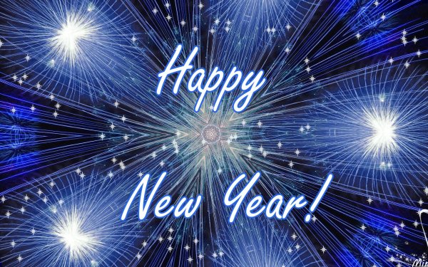 Holiday New Year Blue Star Light Bright Kaleidoscope HD Wallpaper   Background Image