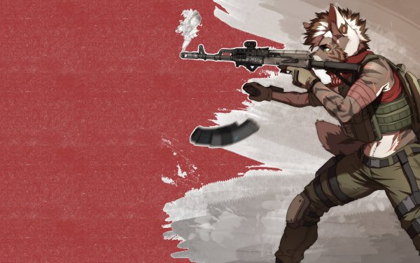 Anime Original AK-47 Military HD Wallpaper   Background Image