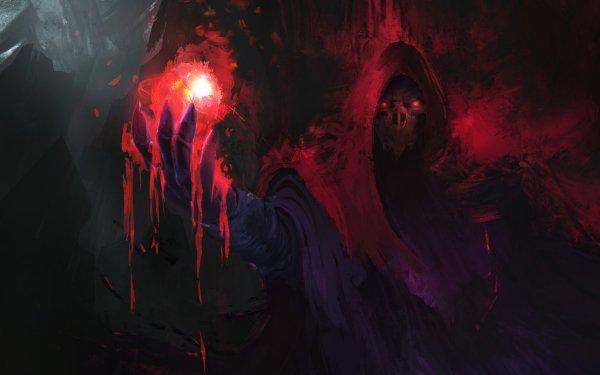 Dark Magic Fantasy Sorcerer HD Wallpaper | Background Image