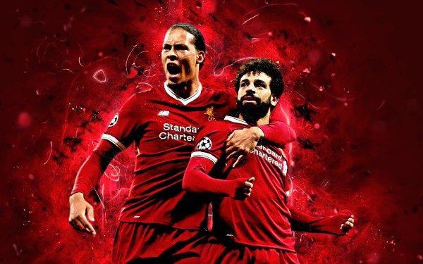 Sports Liverpool F.C. Soccer Club Mohamed Salah Virgil van Dijk HD Wallpaper | Background Image