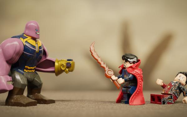 Man Made Toy Thanos Doctor Strange Iron Man Lego Tony Stark Avengers: Infinity War HD Wallpaper | Background Image