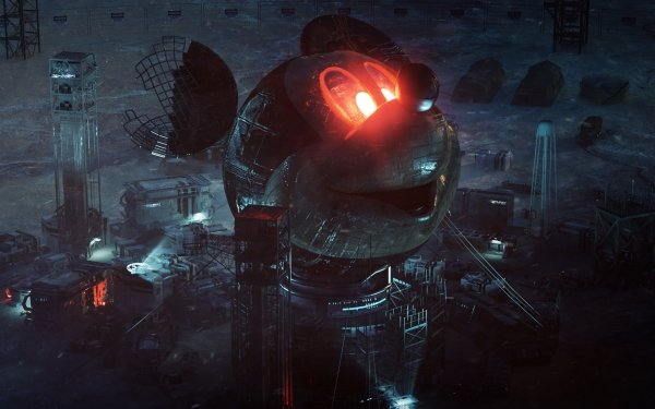 Sci Fi Building Buildings Mickey Mouse HD Wallpaper | Background Image