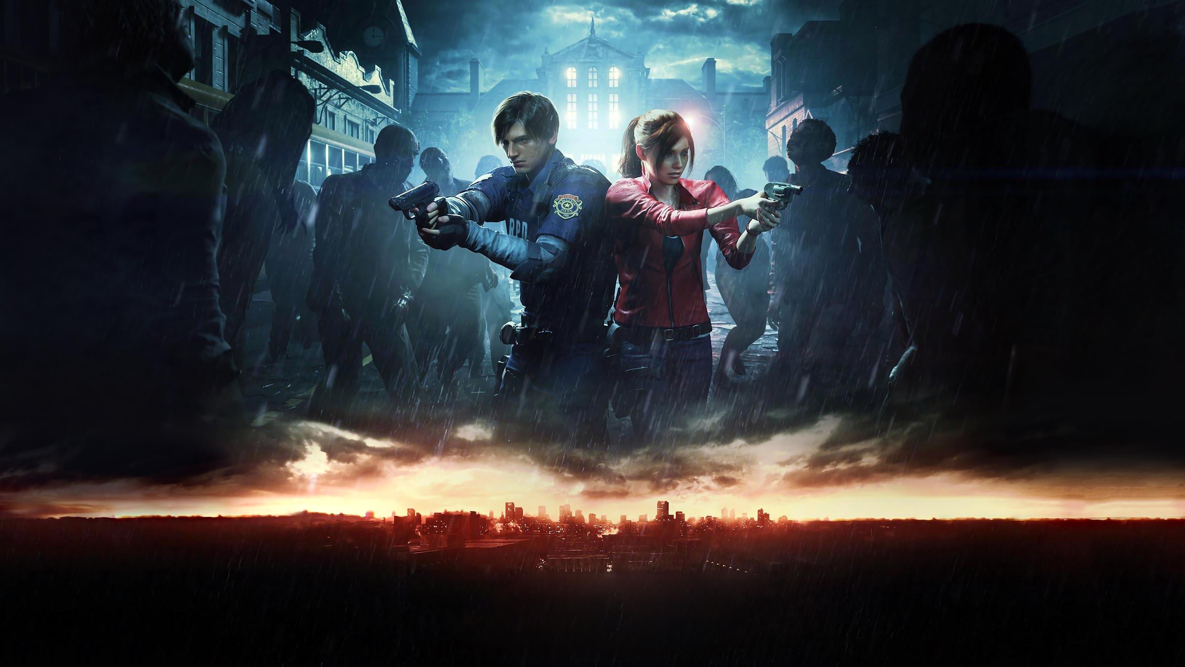 Resident Evil 2 2019 Leon Claire 4k Ultra Hd Wallpaper