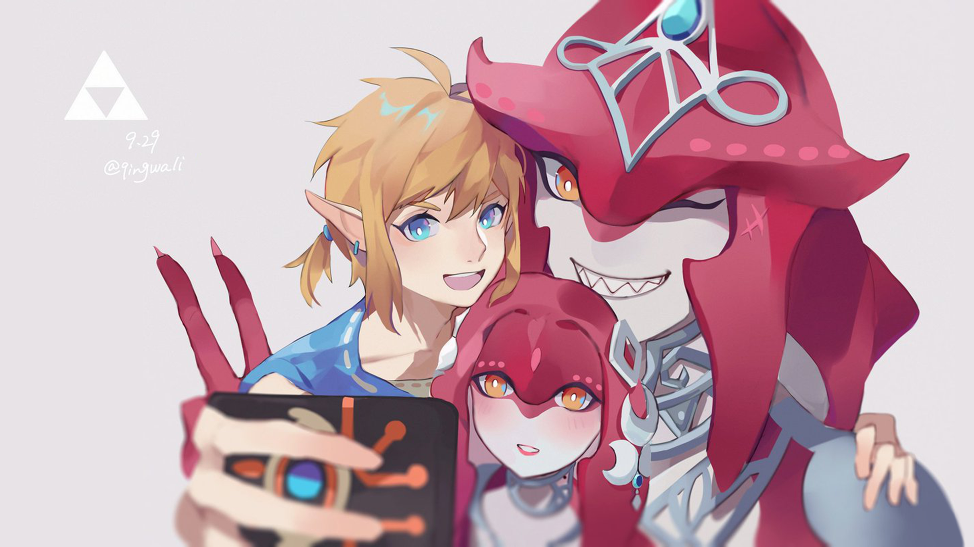 Zelda Mipha Sidon Hd Wallpaper Background Image 1920x1080