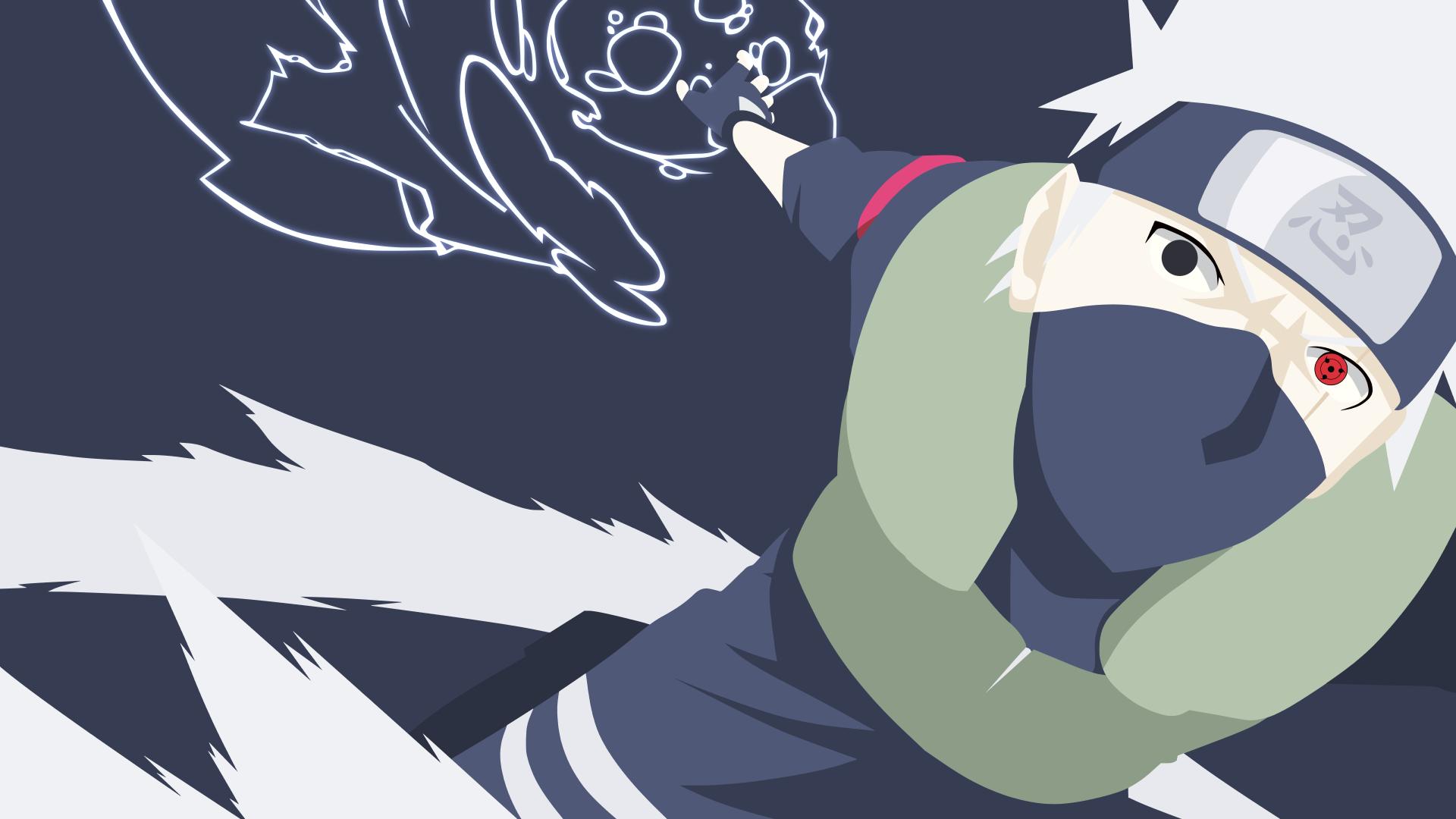 Hatake Kakashi Minimalist Hd Wallpaper Background Image