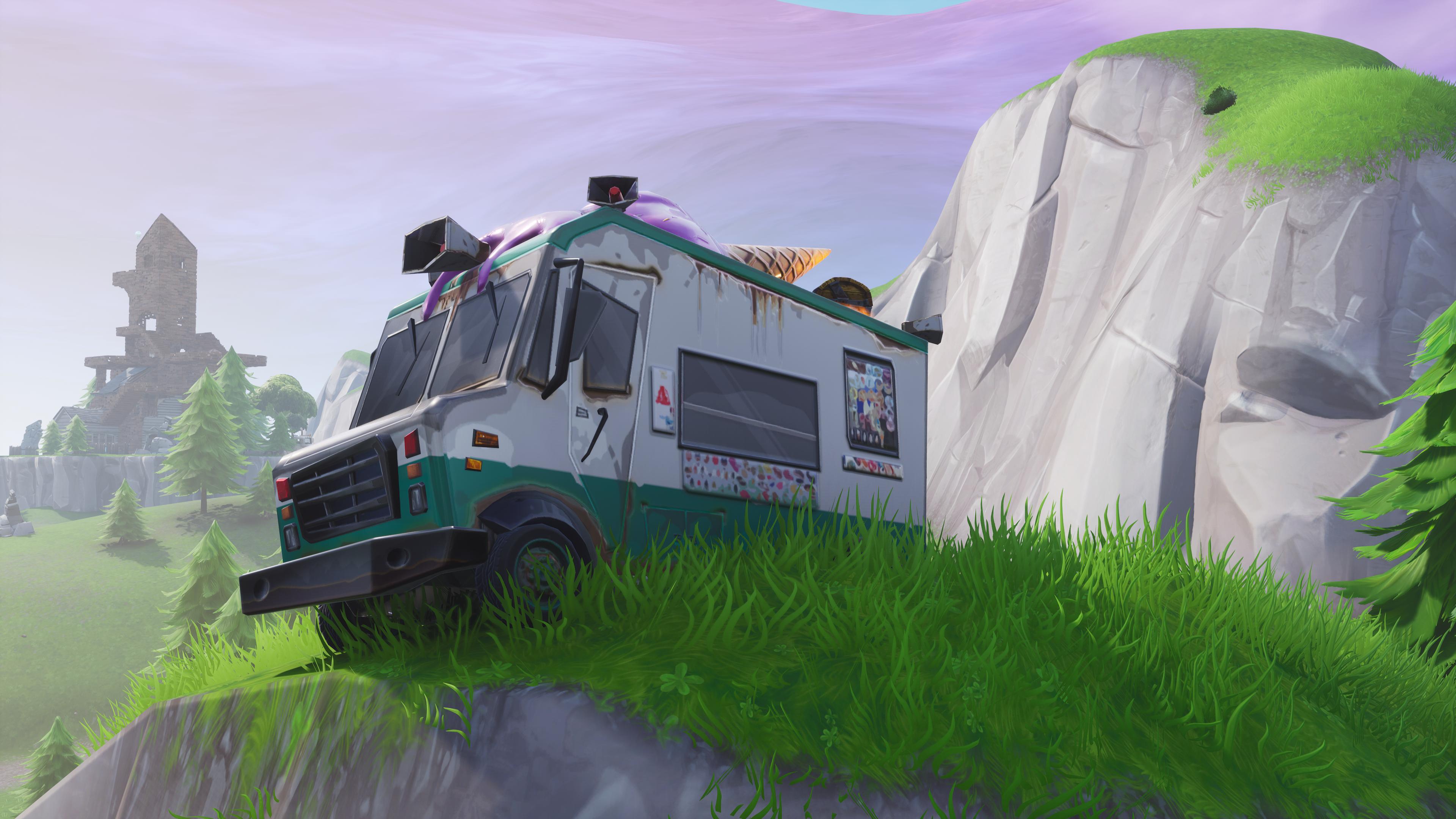 Fortnite Ice Cream truck 4k Ultra HD Wallpaper | Background