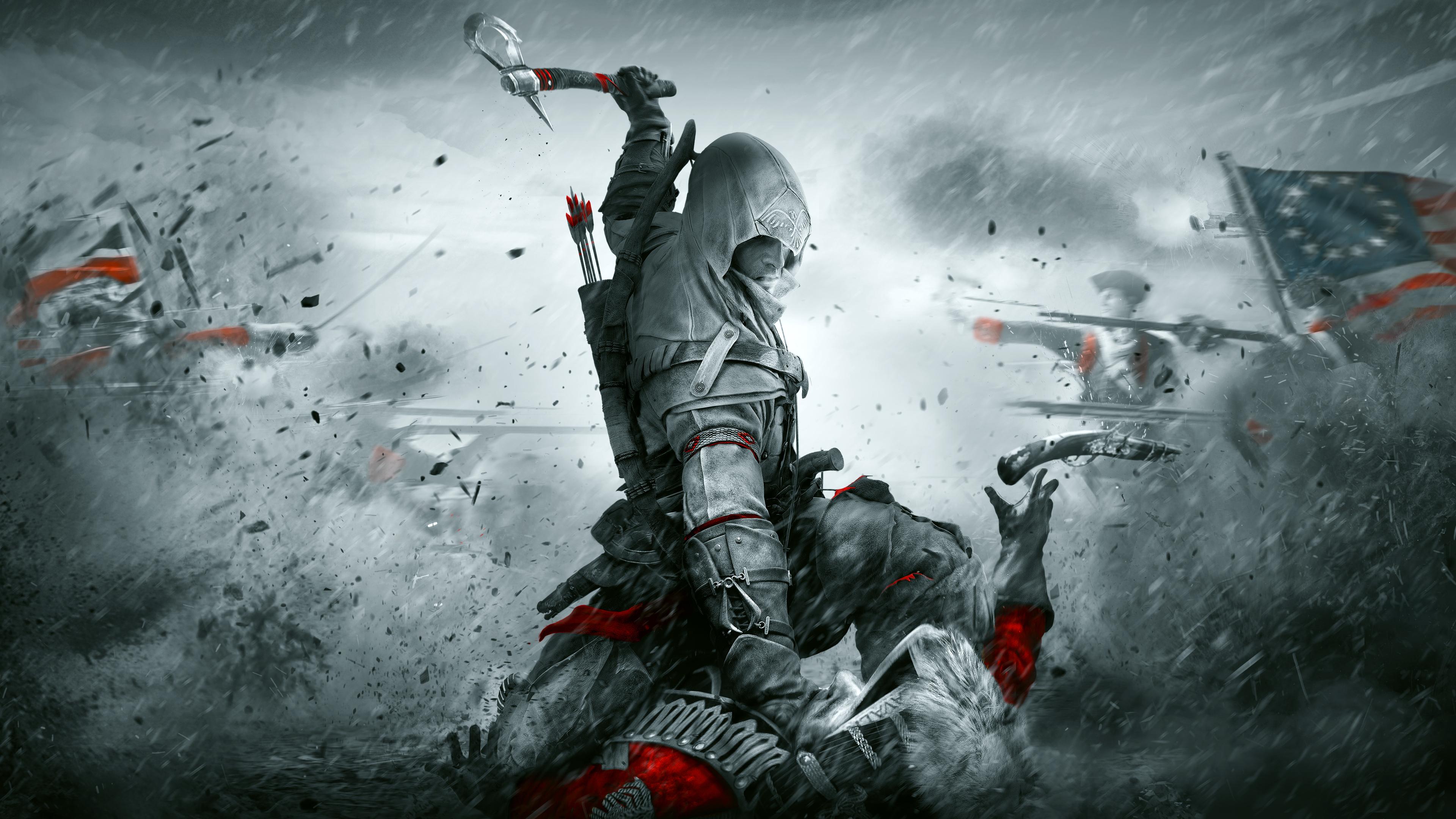 Assassins Creed Iii 4k Ultra Fondo De Pantalla Hd Fondo