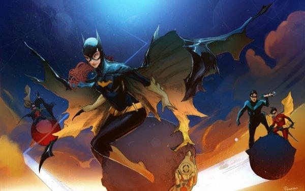 Comics Batgirl DC Comics Batman Robin Nightwing Dick Grayson Barbara Gordon Tim Drake Damian Wayne HD Wallpaper   Background Image