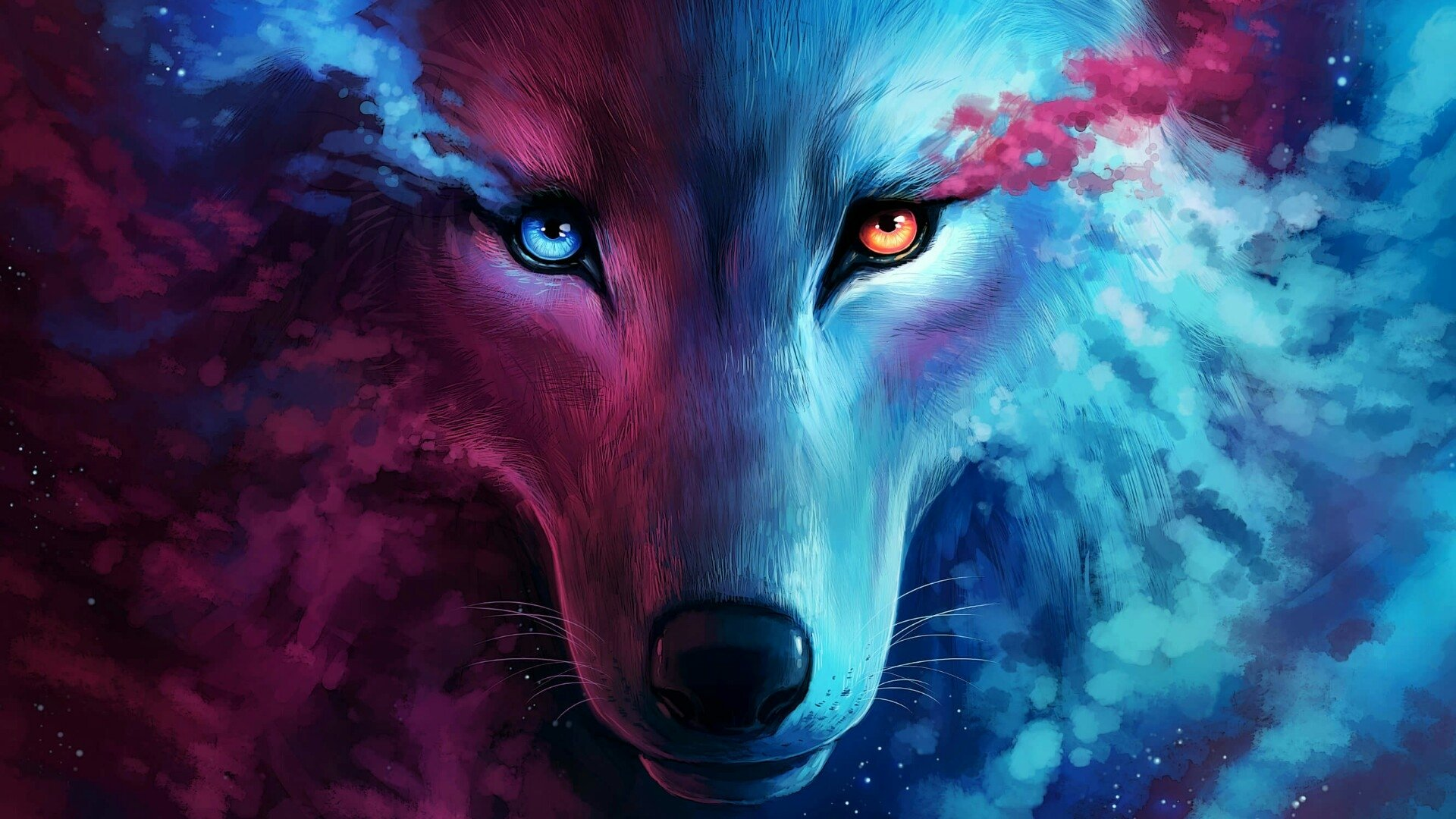 Fantasy Wolf Hd Wallpaper Background Image 1920x1080 Id 994588 Wallpaper Abyss