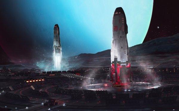 Sci Fi Spaceship Futuristic Space HD Wallpaper | Background Image
