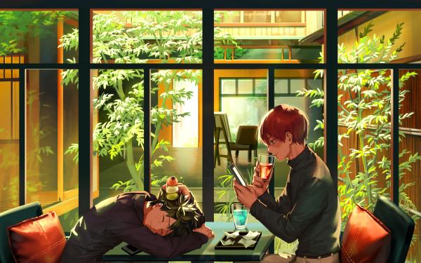 Anime My Hero Academia Izuku Midoriya Shoto Todoroki Red Hair HD Wallpaper | Background Image