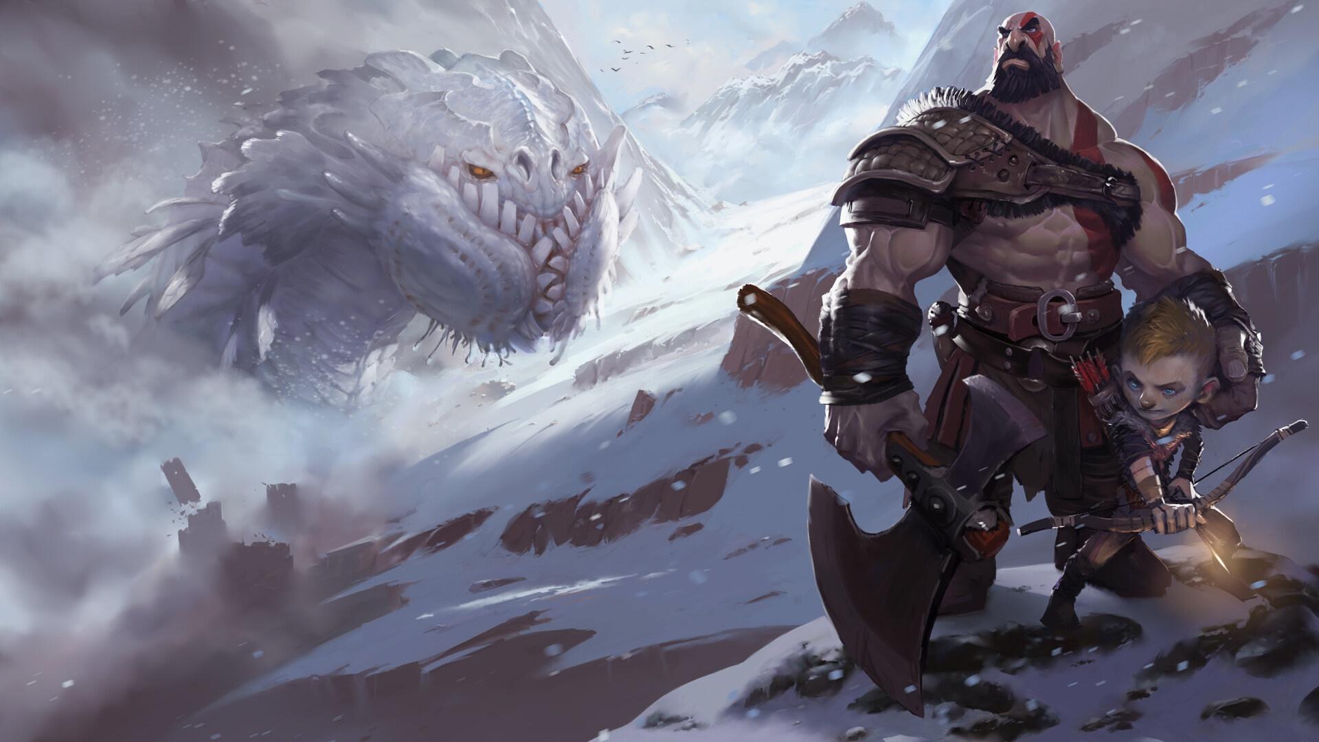 God Of War 2018 Hd Wallpaper Hintergrund 1920x1080