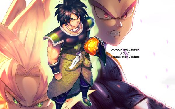 Anime Dragon Ball Super: Broly Vegeta Goku Broly Super Saiyan 2 Super Saiyan God HD Wallpaper | Background Image