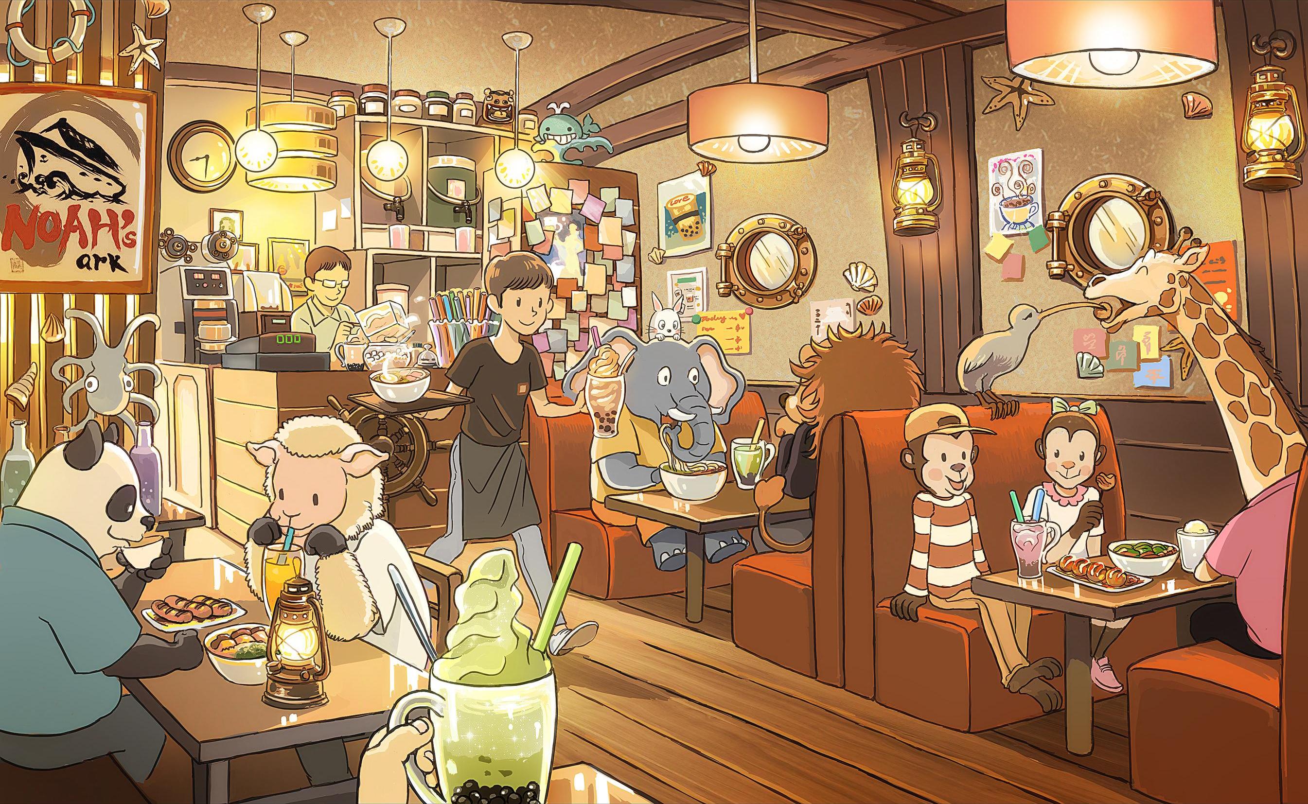Noah's Restaurant HD Wallpaper